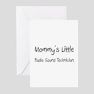 Mommy's Little Radio Sound Technician Greeting Car
