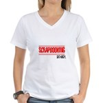 Scrapbooking Rocks Women's V-Neck T-Shirt