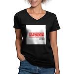 Scrapbooking Rocks Women's V-Neck Dark T-Shirt