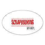 Scrapbooking Rocks Oval Sticker (50 pk)
