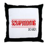 Scrapbooking Rocks Throw Pillow