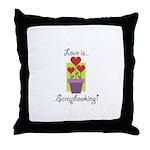 Love Is Scrapbooking Throw Pillow