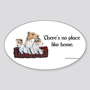 Wire Fox Terrier Home Oval Sticker