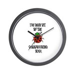 Bit By the Scrapbooking Bug Wall Clock