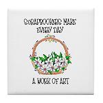 Scrapbookers - Work of Art Tile Coaster