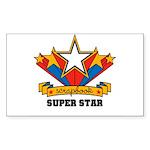 Scrapbook Superstar Rectangle Sticker