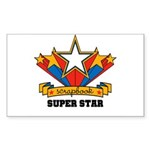 Scrapbook Superstar Rectangle Sticker 50 pk)