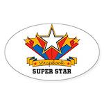 Scrapbook Superstar Oval Sticker (50 pk)