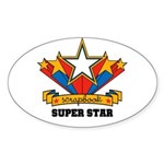 Scrapbook Superstar Oval Sticker (10 pk)
