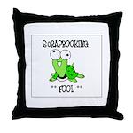 Scrapbooking Fool Throw Pillow