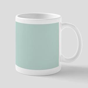 minimalist mint green blue Mugs