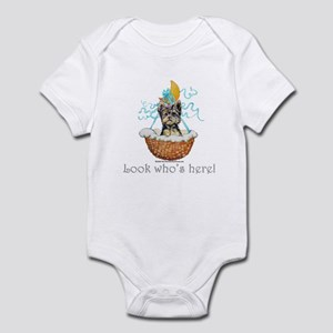 Yorkie Puppy Announcement! Infant Bodysuit