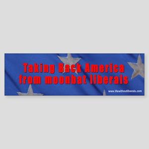 Take back America Love it Bumper Sticker