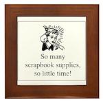 So Many Scrapbook Supplies Framed Tile