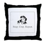 Scrapbooking - Snap. Crop. Re Throw Pillow