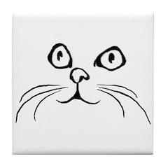 Kitty Face Tile Coaster