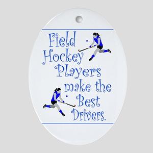 Field Hockey Keepsake (Oval) - Blue