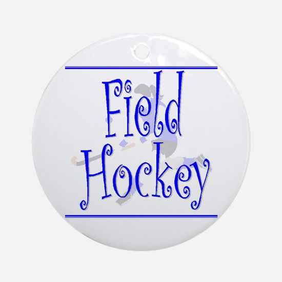 Field Hockey Keepsake (Round) - Blue