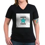 Scrapbook Superstar Women's V-Neck Dark T-Shirt