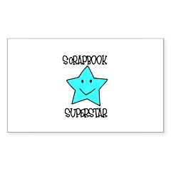 Scrapbook Superstar Rectangle Sticker 10 pk)