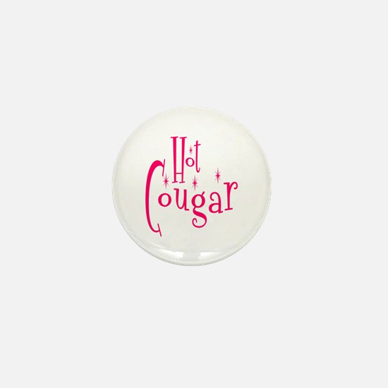 Hot Cougar Mini Button