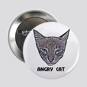 """Angry Cat 2.25"""" Button"""