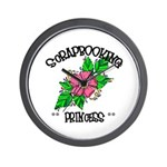 Scrapbooking Princess Wall Clock
