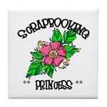 Scrapbooking Princess Tile Coaster