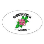 Scrapbooking Princess Oval Sticker (10 pk)
