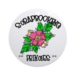 Scrapbooking Princess Ornament (Round)