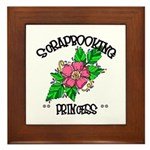 Scrapbooking Princess Framed Tile