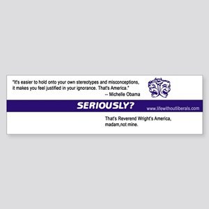 Stereotypes Seriously? Bumper Sticker