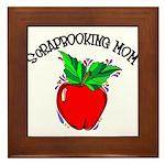 Scrapbooking Mom Framed Tile