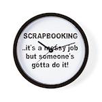 Scrapbooking - Messy Job - Di Wall Clock