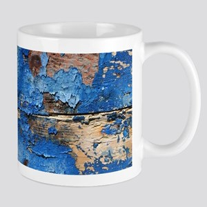 nautical beach blue wood Mugs