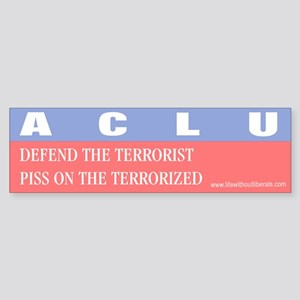 Anti ACLU Bumper Sticker