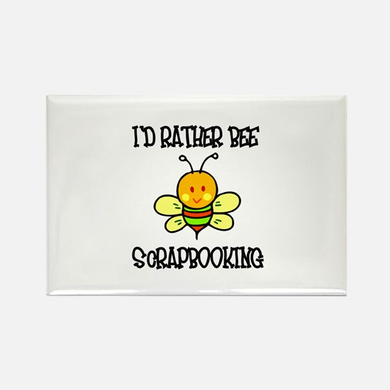 Rather Be Scrapbooking Rectangle Magnet