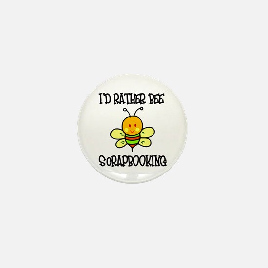 Rather Be Scrapbooking Mini Button