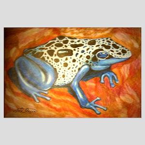 Blue Dart Frog Large Poster