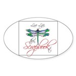 Live Life, Scrapbook It Oval Sticker (50 pk)