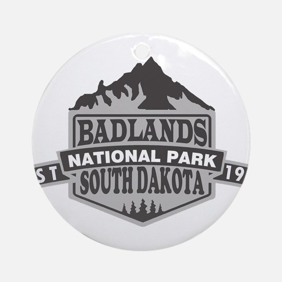 Badlands - South Dakota Round Ornament