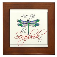 Live Life, Scrapbook It Framed Tile