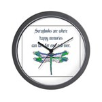 Scrapbooks - Memories Forever Wall Clock