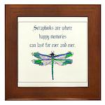 Scrapbooks - Memories Forever Framed Tile
