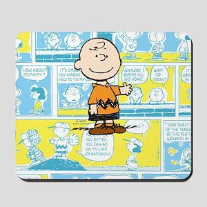 Charlie Brown Comic Strip Mousepad