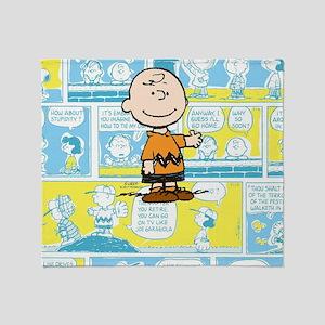 Charlie Brown Comic Strip Throw Blanket