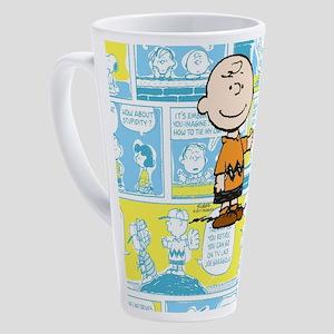 Charlie Brown Comic Strip 17 oz Latte Mug