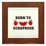 Born To Scrapbook Framed Tile