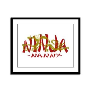 Dragon Ninja Nanny Framed Panel Print