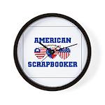 American Scrapbooker Wall Clock